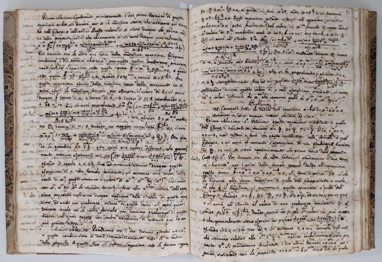 Lagrange, Joseph-Louis (1736-1813), Memoirs of Mathematics, manuscript translated to Italian from the originals. Written in Italian hand. Joseph-Louis Lagrange.