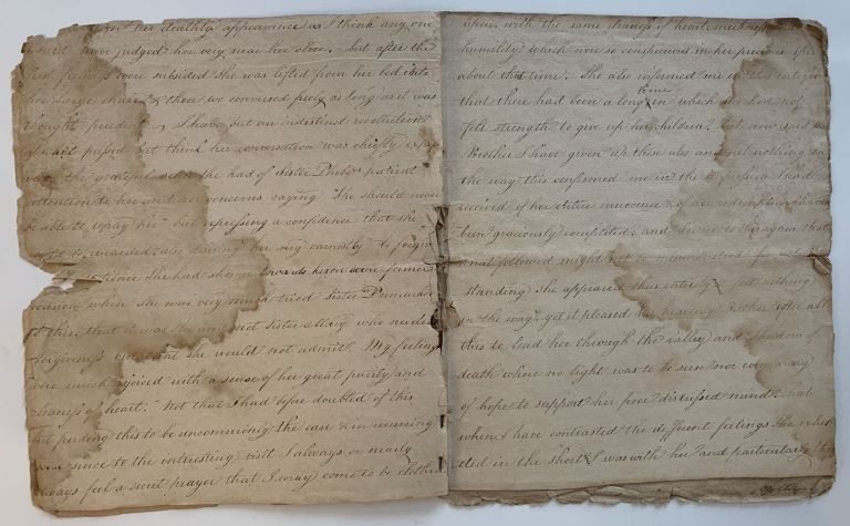 Last illness and death of Mary Emlen Newbold as Recorded in Writing by her Brother James Emlen. with: The Death Bed Testimony of William Williams, Society of Friends Minister. Quaker Testimonials.