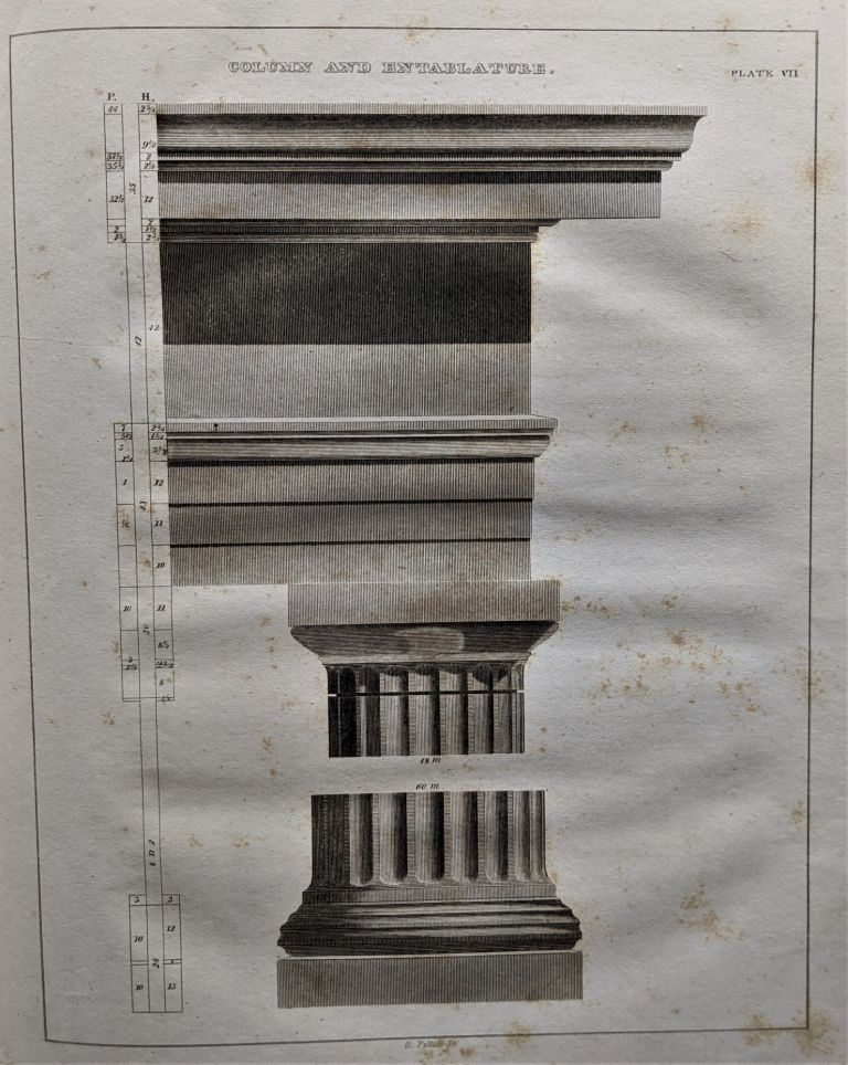 Practice of Architecture. Containing the Five Orders of Architecture, and an Additional Column and Entablature, with all their Elements and Details Explained and Illustrated. With Sixty Plates. Architecture, Asher Benjamin.