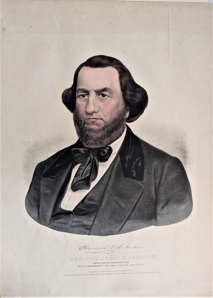 HON. HERSCHEL V. JOHNSON. Democratic Candidate for Vice President of the United States.