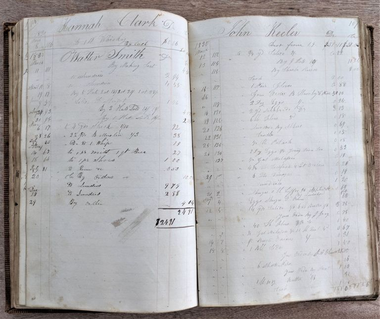 General Store and Shoe Ledger. Ledger. Nathan Comstock??