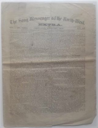 The Song Messenger of the North-West, EXTRA. Chicago Newspaper