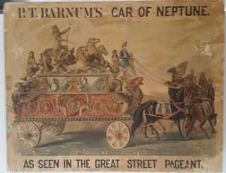 P. T. Barnum's Car of Neptune as Seen in the Great Street Pageant. P. T. Barnum