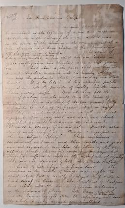 Revolutions of 1848. Manuscript essay written in ink in a legible hand. Signed Charles Strong...
