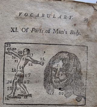 """The Philadelphia Vocabulary, English and Latin"""" Put into a New Method proper to acquaint the Learner with Things as well as pure Latin Words. Adorned with twenty-six pictures. For the Use of Schools."""