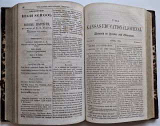 The Kansas Educational Journal, Devoted to Science and Education. Published Monthly, under the...