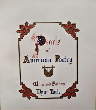 Pearls of American Poetry Illuminated. T. W. GWILT MAPLESON