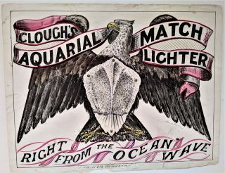 Clough's Aquarial Match Lighter: Right from the Ocean Wave. Decorative Advertisement