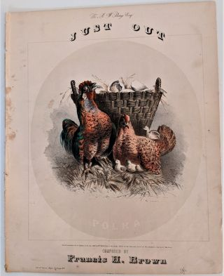 Just Out Polka. Color Lithograph, Francis H. Brown