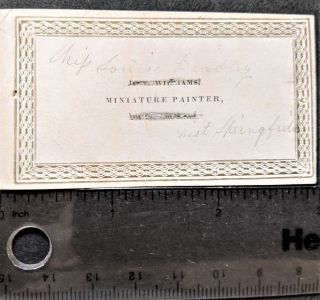 Calling Card (Jas. W. Williams) 204 Chestnut Street. Miniature Painter's Card, James W....