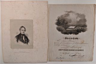 Engraved Portrait of Jesse Read, Esq. P. G. S. of the Order of United Americans. Order of United...