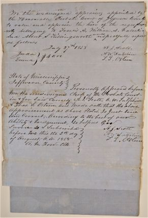 "Probate Documents ""Writ of Hire"" of Frances A. and William A. Valentia, and Albert S...."