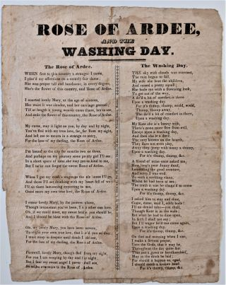 Rose or Ardee, and the Washing Day. Song Sheet