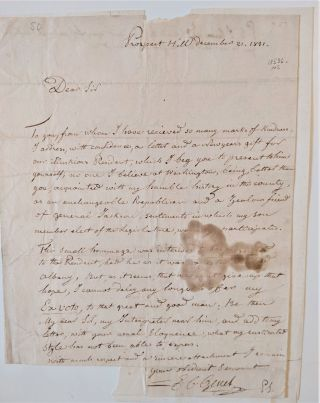 Autograph Letter Signed (to William L. Marcy?). Genet, dmond, harles
