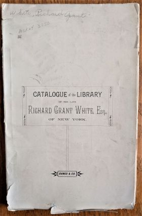 Catalogue of the Library, Engravings, Oil Paintings and Musical Instruments Belonging to the Late...