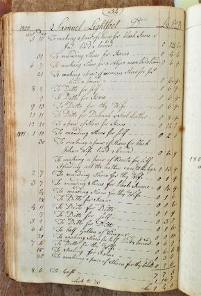 Manuscript Account Books of a Quaker Shoemaker and Manufacturer of Leather Goods.