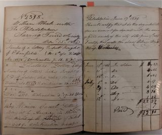 William Whale's Book. Ledger. Bookselling, Bookbinding